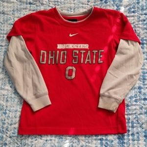 Nike boys Ohio State Buckeyes long sleeve shirt